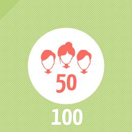 ...durchscnittlich für etwa 50 Kunden an 100 Projekten
